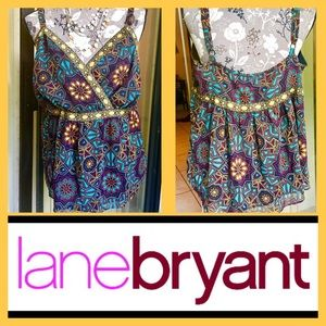 Women's Lane Bryant Colorful Summer Cami Size 18